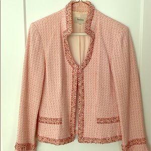 Pink Bouclé Newman Marcus Blazer Size 6